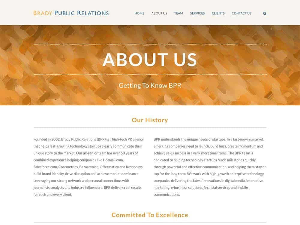 Brady Public Relations About Us Page