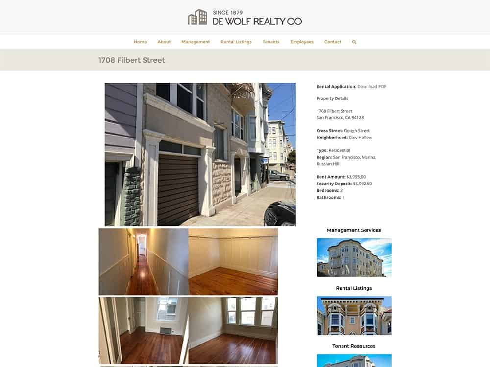 DeWolf Realty Single Property Page