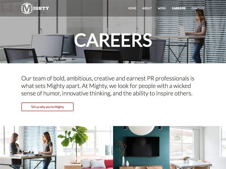 Mighty PR Careers Page