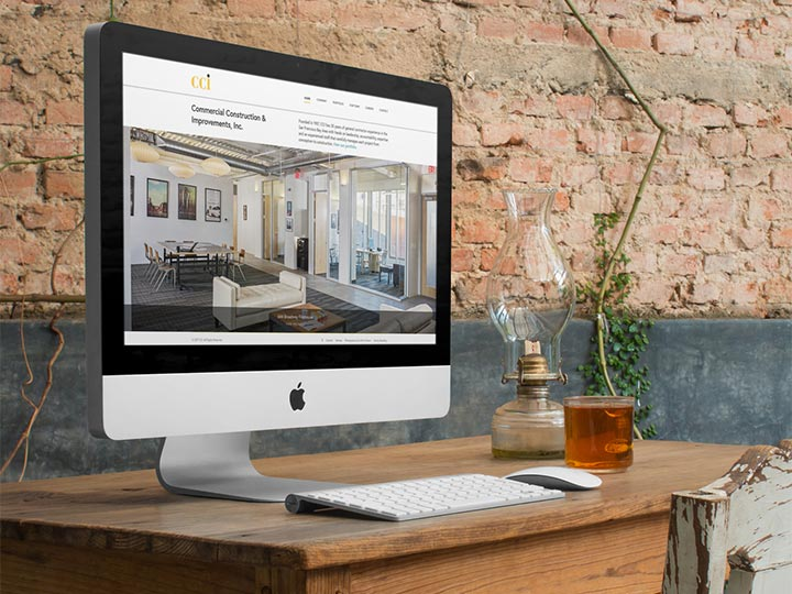 CCI General Contractor viewed on an iMac
