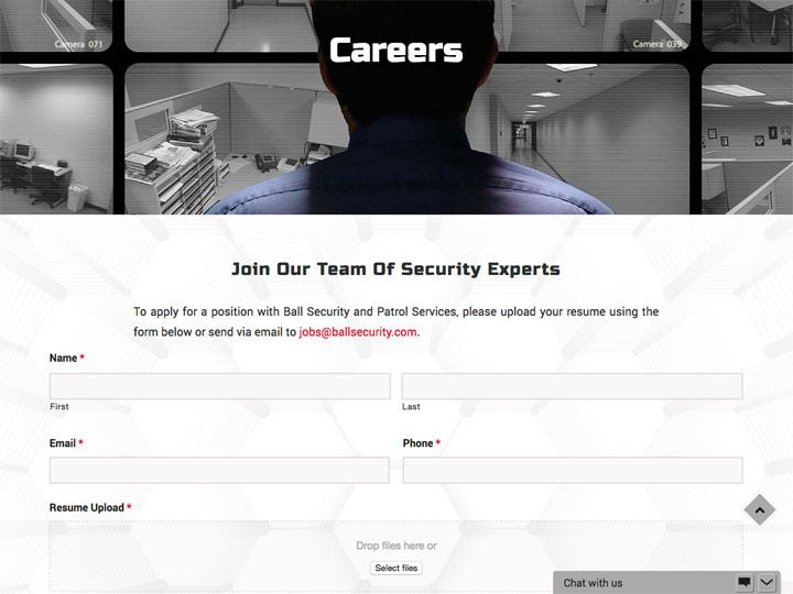 Ball Security and Patrol Services Services Armed Careers Page