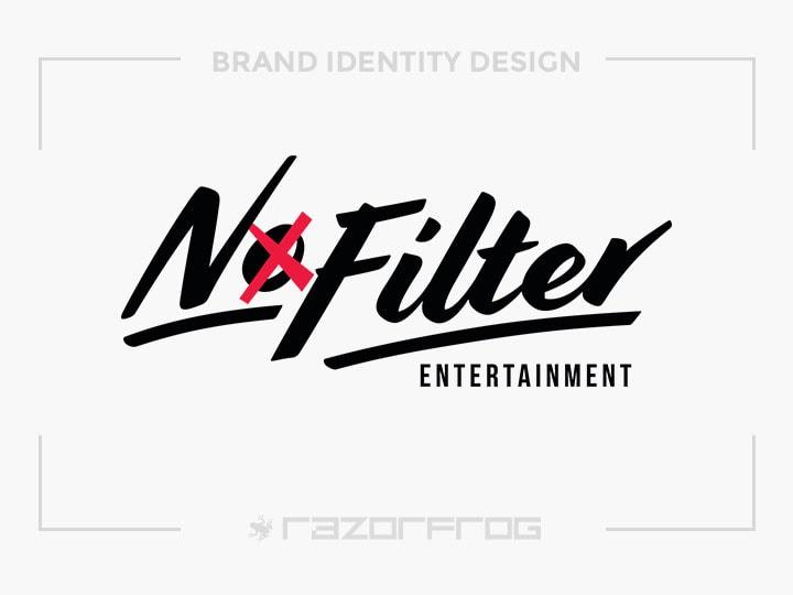 No Filter Entertainment Logo Design