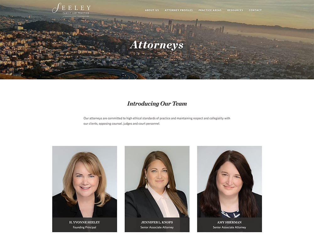 Seeley Family Law Practice Attorneys Page