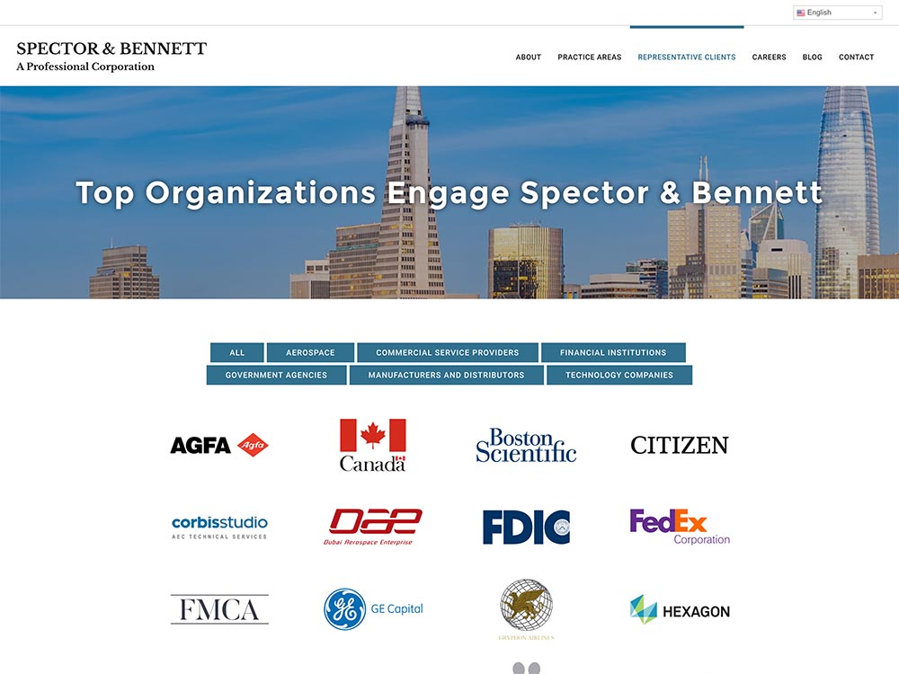 Spector & Bennett Representative Clients Page