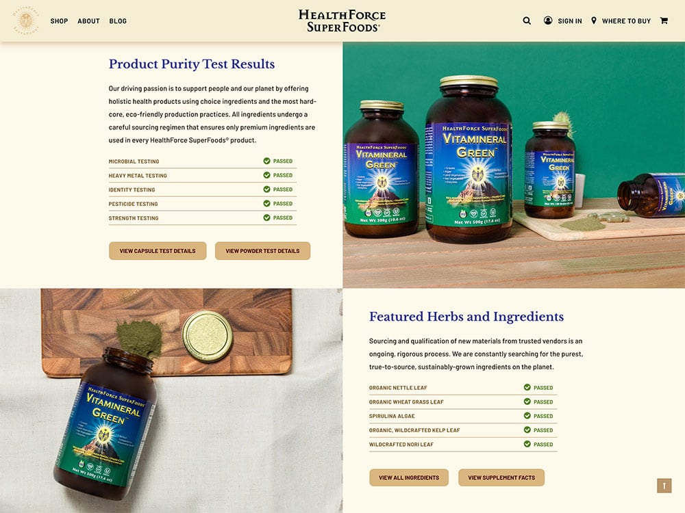 HealthForce SuperFoods Single Product Page 3